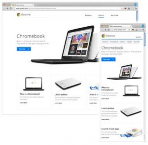 ChromebooksのWebサイト