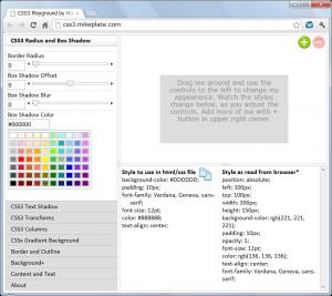 CSS3Playgroundの画面before