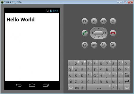 PhoneGapのテストでエミュレータ起動